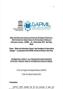 Competência em Informação-Evento Global Mil week UNESCO