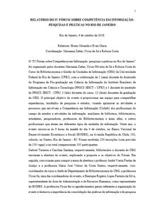 Relatório do fórum CoInfo Rio de Janeiro