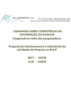 Competência em informação Apresentação do I Seminário CoInfo no ENANCIB 2014 Regina Belluzzo