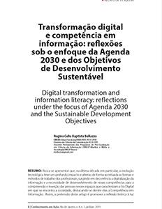 Transformação digital e competência em informação: reflexões sob o enfoque da Agenda 2030 e dos Objetivos de Desenvolvimento Sustentável