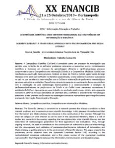 ENANCIB 2019 trabalho completo comunicação oral Marcia Rosetto